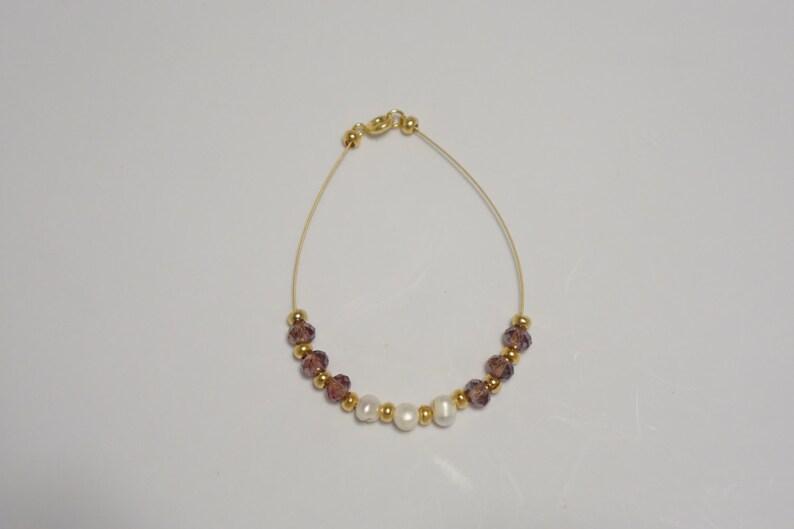 Custom Beaded Wire Bracelet with Clasps