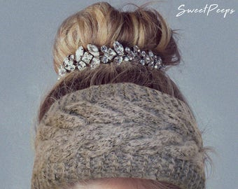 Cable Knit Headband, Knit Headband, Knit Beanie, Turban, Cute Turban Headband, Ear Warmer, Winter Hairband, Fast Shipping, Holiday Gift