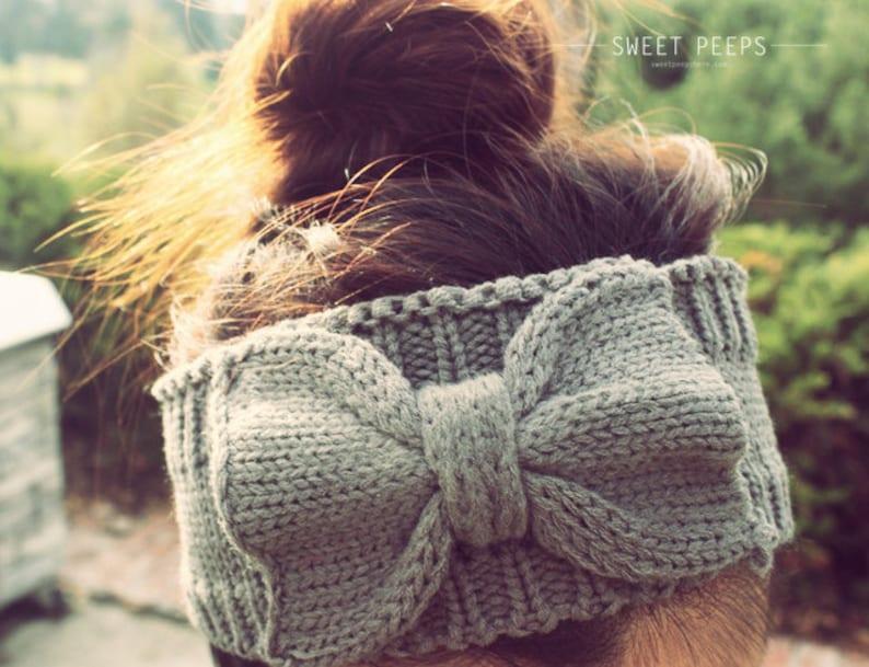 BUY 2 GET 1 FREE  Knitted Bow Headband Bow Headband Knit image 0