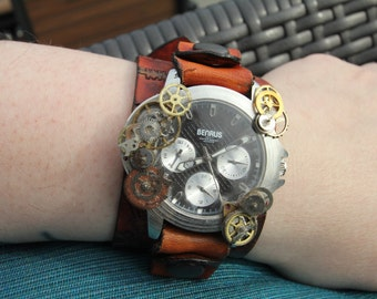 Upcycled Benrus Cog Leather Watch
