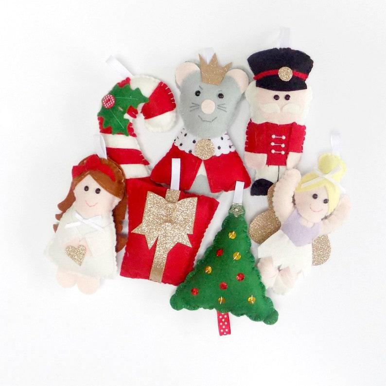 Nutcracker Garland Christmas Garland Festive Garland Felt Christmas Decorations