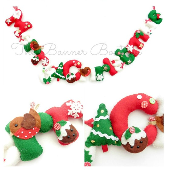 Pdf Instructions For Merry Christmas Garland Instant Etsy