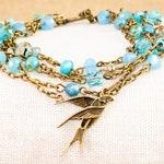 Signed Blue Sparrow Bracelet
