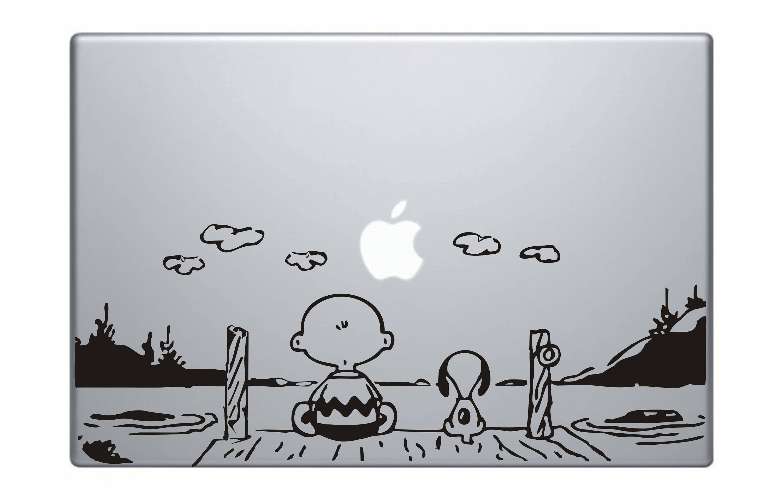 Snoopy And Charlie Brown Watching Sunset MacBook Decal Snoopy | Etsy