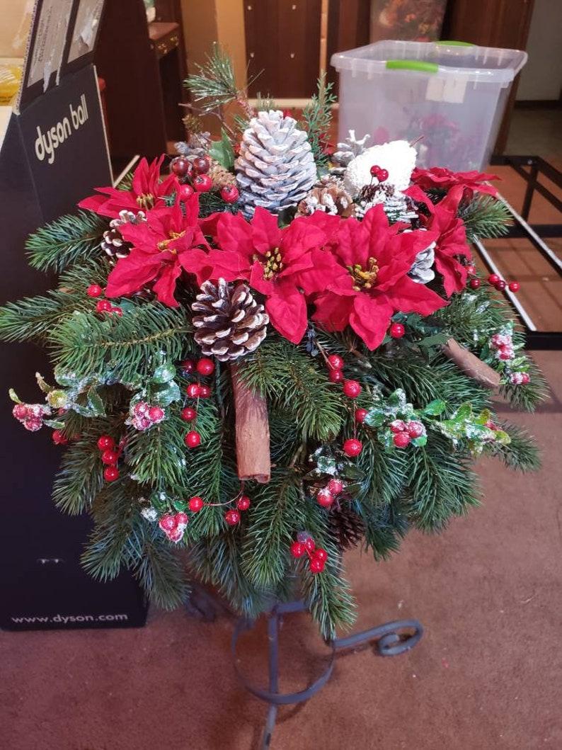 Christmas Hanging Baskets.24 Inch Christmas Hanging Basket