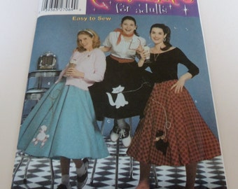 Misses 6 to 12 UNCUT Poodle Skirt Pattern Simplicity 5403