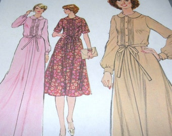 1977 Simplicity 8663 Maxi/Knee Length Dress size 18 UNCUT