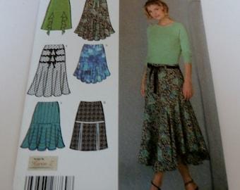 Simplicity 4753 Uncut Skirt pattern 6,8,10,12