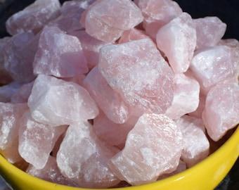 Medium Raw Rose Quartz Crystals, Raw Crystal Quartz Chunks, Healing Crystals, Meditation, Crystal Grid, Gemstone Home Decor, Boho Decor