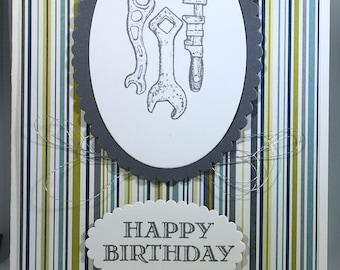 Happy Birthday, man, boy, male, tools
