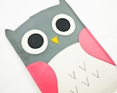 "KIndle Paperwhite Case Cover Sleeve Kindle Paper White 3G 6"" Case - Owl in Pink/Grey"