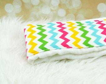 Baby Burp Cloth (Medium Girl Chevron) ||| burp rag, baby burp cloths, burping rag, baby shower gift, baby gift, new baby gift