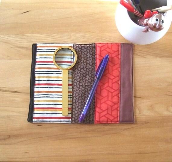 Accessoire Bureau tapis - appréciation du professeur mat - mini quilt - collation réutilisable - de tasse - tapis de bougie sous verre - topper commode - tissu - marron