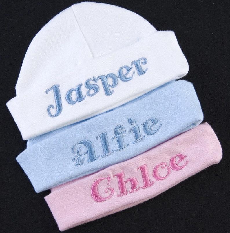 Baby Mützen Jungen Mädchen Hut Mit Personalisierte Stickerei Geschenkidee