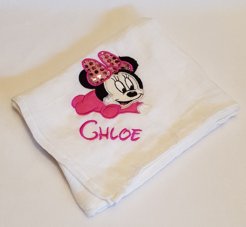Personalised Baby Muslin Burp Cloth Full Birth Details Name Boy Girl Gift New