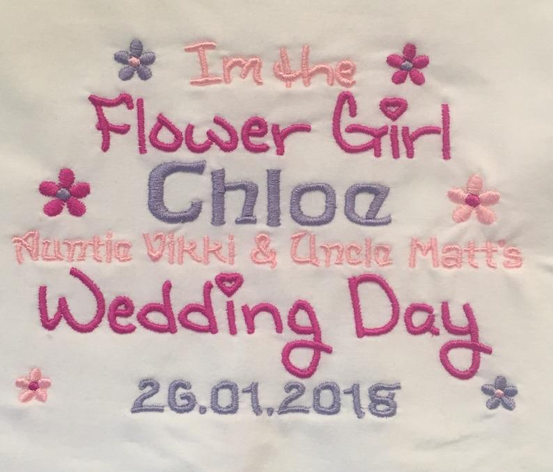 Wedding Bridesmaid Embroidered Baby Bib Gift Personalised