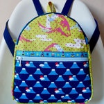 Kids backpack, toddler backpack, mini backpack, nursery bag, snack bag, rucksack, Japanese cotton bag, kids fashion