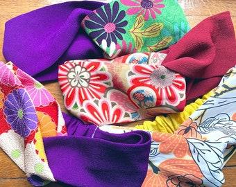 Headbands, hair bands, turban made with Japanese fabric, Japanese hair band, twist knot headband, floral print, crossed turban