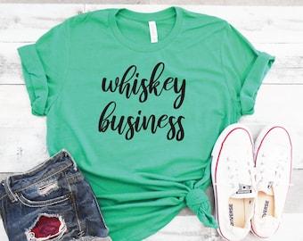 ee3dc14e0 Whiskey Business Shirt | Funny St. Patricks Day Shirt | Cute St Patricks  Drinking Tee | Whiskey Shirts | St. Pattys Shirts | Shamrock Unisex