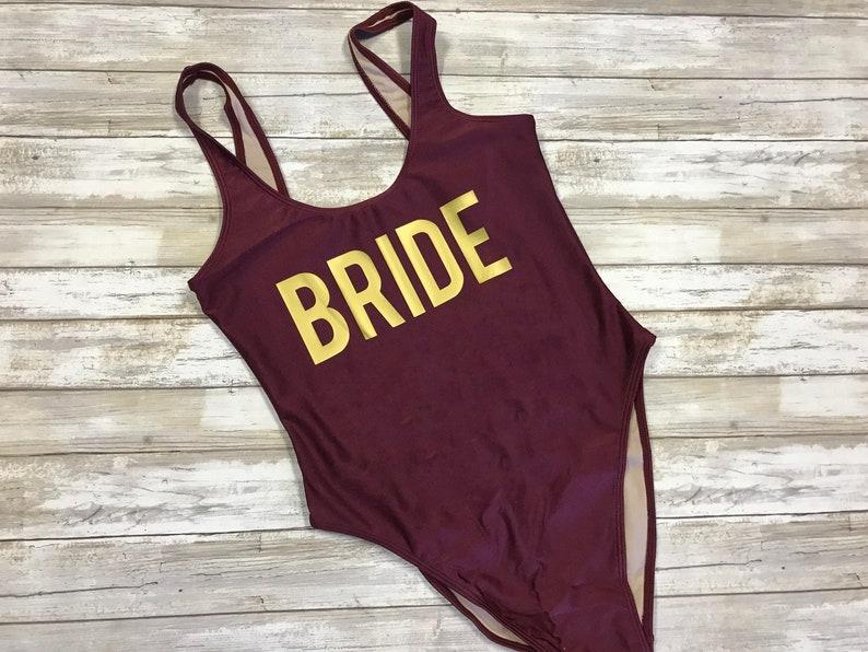 b7c97114749 Bride High Rise Swimsuit One Piece Swimsuit Bridal Swimsuit   Etsy