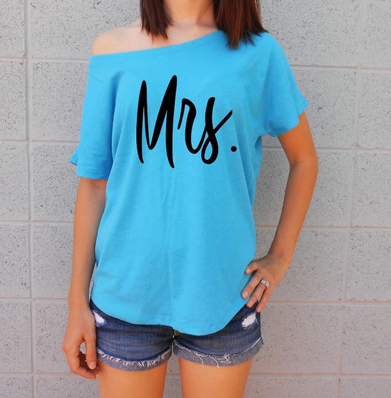 bba1acaca7d Mrs Shirt Mrs Off Shoulder Shirt Just Married Shirt Wife   Etsy