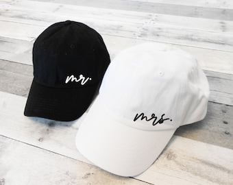 Mr and Mrs Dad Hats, Mr Mrs Hats, Honeymoon Hats, Mr Mrs Baseball Caps, Mr and Mrs Hats, Just Married Hats, mr dad hat, mrs dad hat