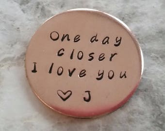 One Day Closer Pocket Coin Deployment Gift United States Navy Airforce Marines Army Military Challenge For Husband