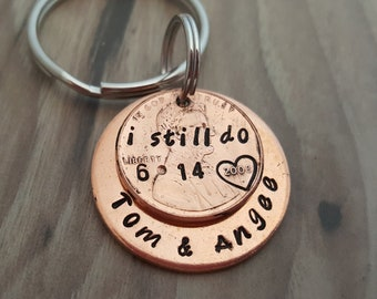 I still do Husband Gifts Personalized 1st Anniversary Gifts For Men Penny Jewelry 7 Years Gift HandStamped Couples gift for Him/Her gift