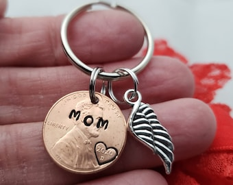 Funeral Gift Memorial Keychain Remembrance of Someone Special Loss of Loved One, In Memory of Memorial Gift Penny From Heaven