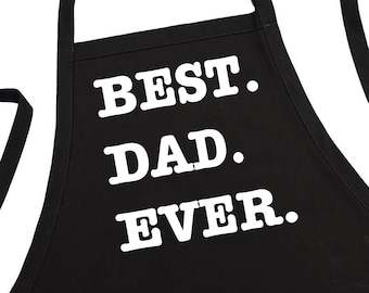 Best Dad Ever Novelty Chef Aprons, BBQ Aprons For Men, Grilling Apron Gift Idea