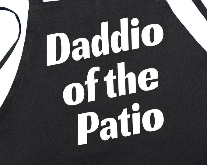 Chef Apron Daddio Of The Patio Novelty BBQ Aprons, Kitchen Aprons Men, Grilling Apron For Dad