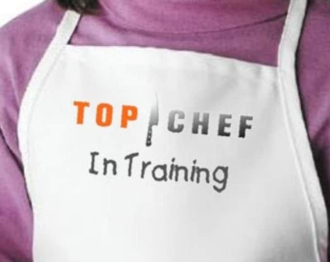Kids Apron Top Chef In Training Aprons For Children