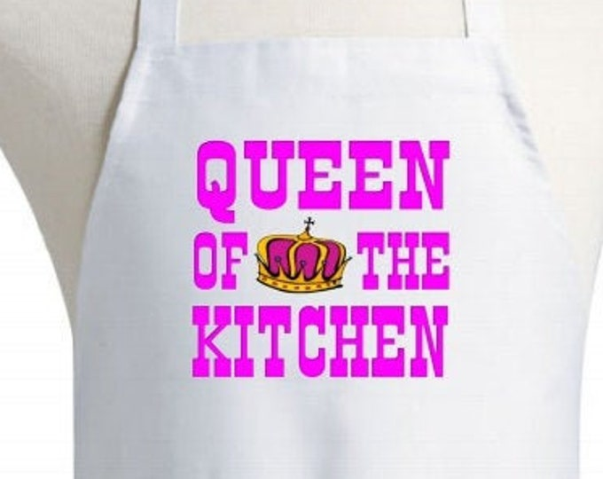Cooking Apron Queen Of The Kitchen White Aprons For Women