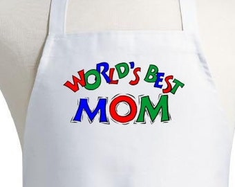 Cute Cooking Aprons For Women World's Best Mom Chef Apron