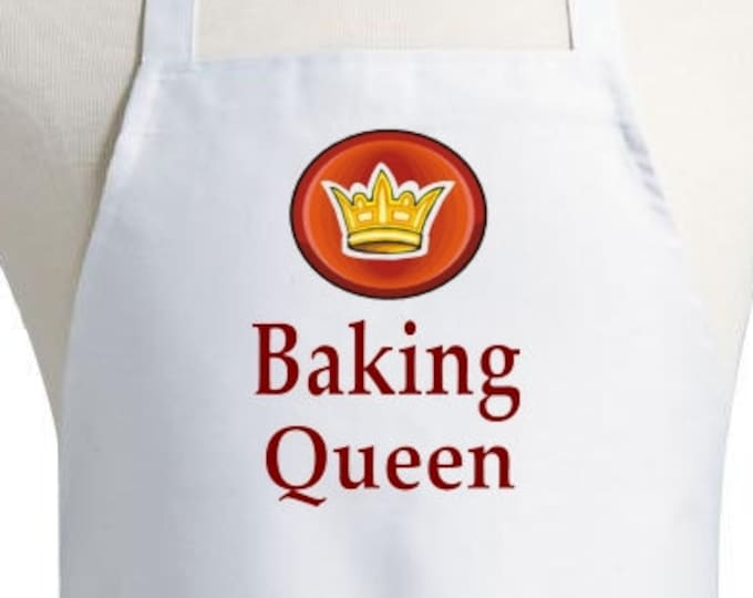 Cute KItchen Apron Baking Queen Cooking Aprons For Women