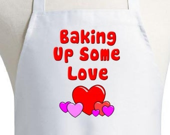 Cute Cooking Aprons Baking Up Some Love White Kitchen Apron