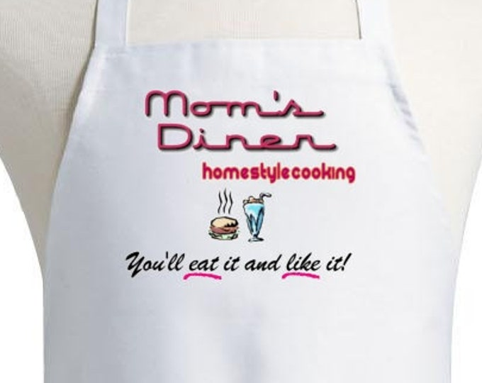 Aprons For Women Mom's Diner Cute Kitchen Apron