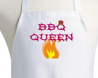 Aprons For Women BBQ Queen Cute Cooking and Grilling Apron