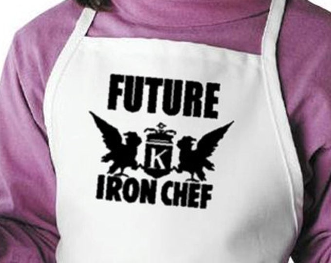 Future Iron Chef Kids Apron Childrens Cooking Aprons