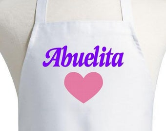 Abuelita Apron Spanish Grandma Kitchen Aprons For Women