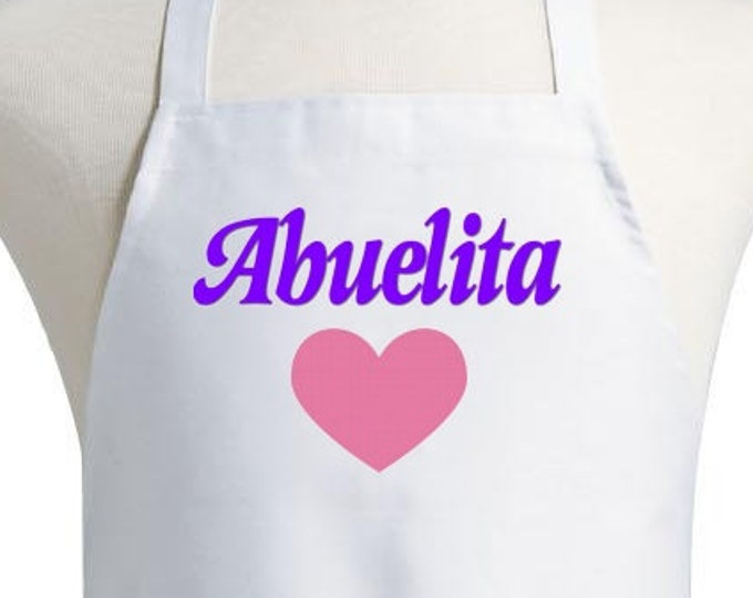 Abuelita Apron Spanish Grandma Kitchen Aprons For Women