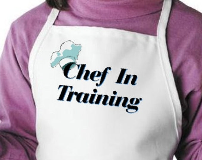 Kids Apron Chef In Training Childrens Cooking Aprons, Child Kitchen Aprons