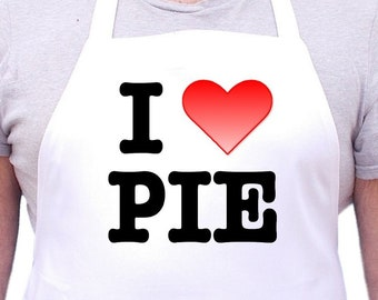 Cooking Aprons I Love Pie Cute Novelty Baking Apron, Bakers Gift Idea For Women And Men