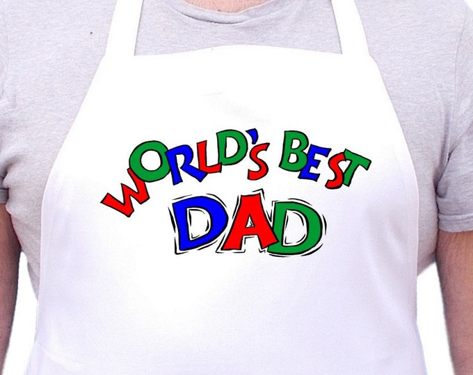 World's Best Dad Aprons For Men Father's Day Gift Idea, Mens Cooking Aprons