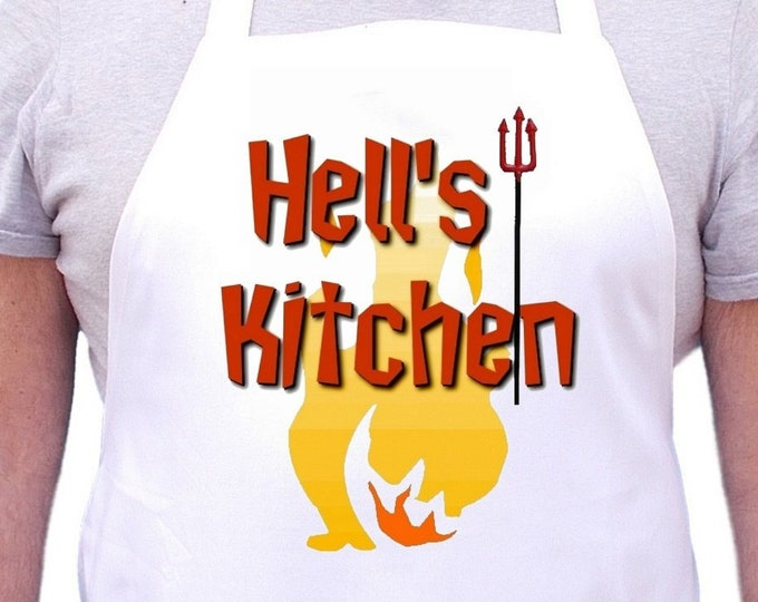 Hell's Kitchen Cooking Aprons For Men And Women, Professional Chef Apron