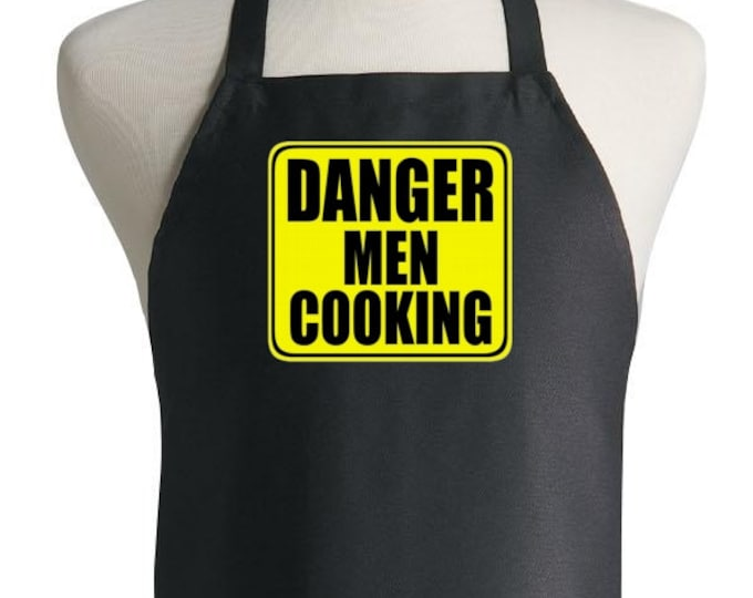 Barbecue Apron For Him Danger Men Cooking Funny Grill Aprons