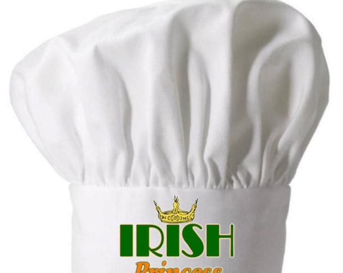 Chef Hat Irish Princess Cute Toques Funny Chef Wear