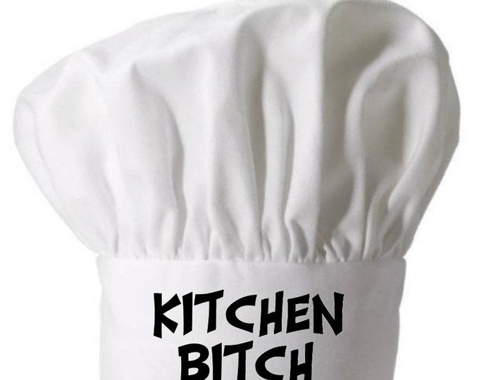 Kitchen Bitch Funny Chef Hat and White Kitchen Toque