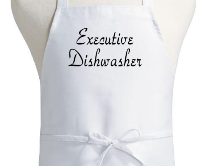 Funny Cooking Aprons Executive Dishwasher Novelty Apron