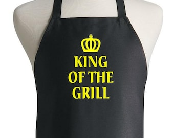 Novelty Black BBQ Apron King Of The Grill Aprons For Men